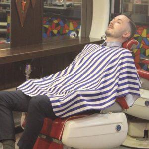 Shaving Cape 『NAVY』For Barber by Grimsteads 理容室 シェービングクロス お顔剃り