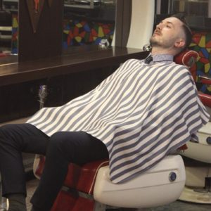 Shaving Cape 『GRAY』For Barber by Grimsteads 理容室 シェービングクロス お顔剃り