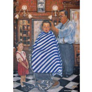 Memories of Good old Barber shop ポスター A3サイズ