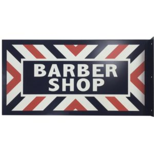 Reproduction『BARBER SHOP』 Double Sided Flange PORCELAIN  Marvy Japan