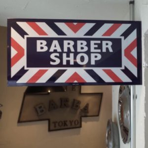 Reproduction ガラスコーティング『BARBER SHOP』 Double Sided Flange PORCELAIN  Marvy Japan